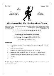 Mitteilungsblatt für die Gemeinde Tenna