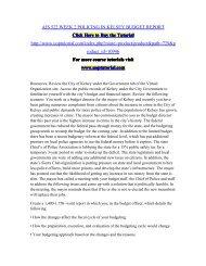 AJS 522 WEEK 2 POLICING IN KELSEY BUDGET REPORT