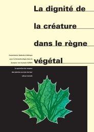 La dignité de la créature dans le règne végétal - EKAH - admin.ch