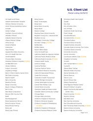 U.S. Client List - COSMED