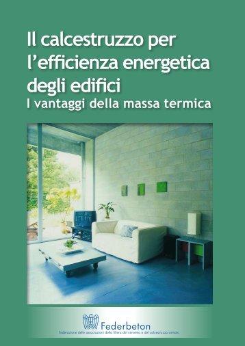 Il calcestruzzo per l'efficienza energetica degli edifici