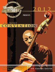 convention - West Tennessee School Band and Orchestra Association