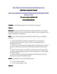 ART 100 Week 5 Individual Assignment Defending the Arts