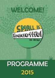 WELCOME! PROGRAMME 2015