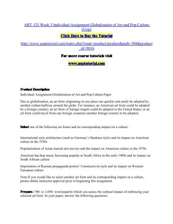 Globalization assignment