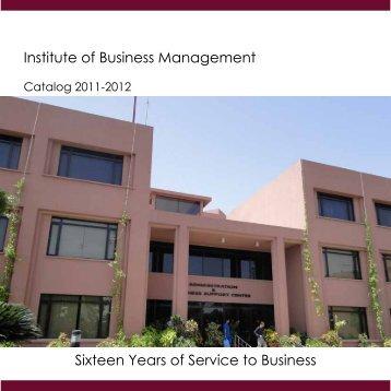 Catalog 2011-12 - Institute of Business Management