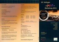 25. Solinger Workshop 2012 - Theater Solingen