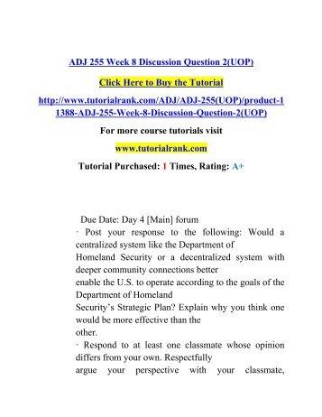 ADJ 255 Week 8 Discussion Question 2(UOP)/ Tutorialrank