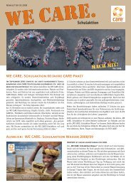 WE CARE.Newsletter 1/2008 - CARE Deutschland e.V.