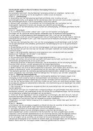 Huishoudelijk reglement Reuma Patiënten Vereniging Arnhem e.o. ...
