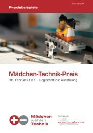 Mädchen-Technik-Preis - Stiftung Partner für Schule NRW ...