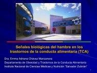 Señales biologicas del hambre en los TCA - Instituto Nacional de ...