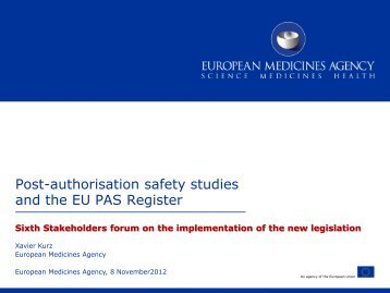 Post-authorisation safety studies and the EU PAS Register