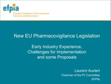New EU Pharmacovigilance Legislation