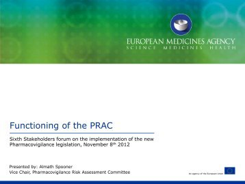 Functioning of the PRAC