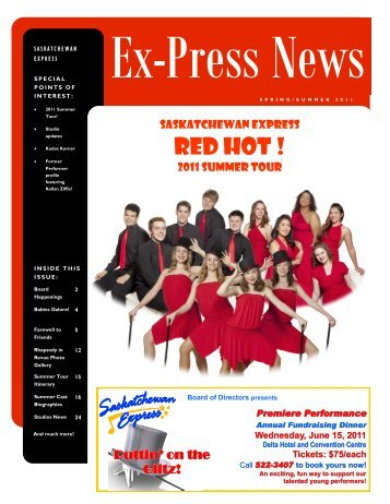 Spring Newsletter 2011 - Saskatchewan Express