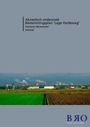 Akoestisch onderzoek Bestemmingsplan 'Lage Heideweg'