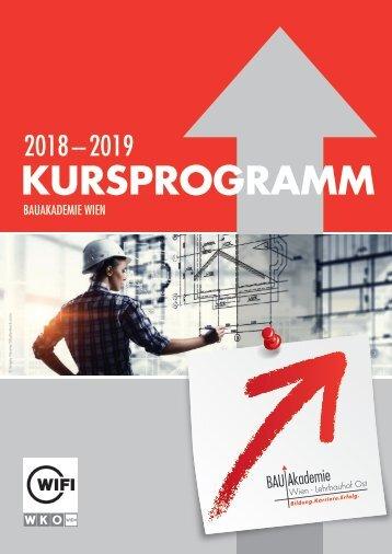 Kursprogramm der BAUAkademie Wien 2018/19