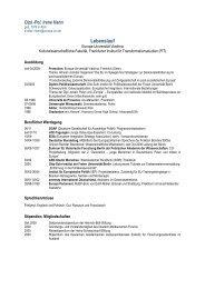 Lebenslauf - Europa-Universität Viadrina Frankfurt
