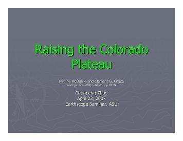 Raising the Colorado Plateau