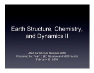 Earth Structure Chemistry and Dynamics II