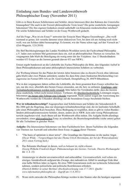 Philosophisches essay schreiben bachelorarbeit einleitung schreiben beispiel