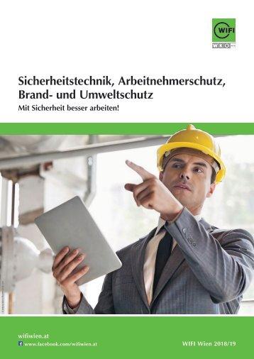 Sicherheitstechnik, Arbeitnehmerschutz, Brand- und Umweltschutz, Aus- und Weiterbildung am WIFI Wien