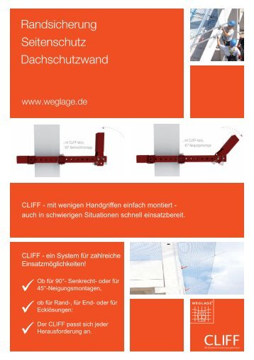 CLIFF - mit wenigen Handgriffen einfach montiert - auch in ...