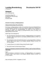 Landtag Brandenburg Drucksache 5/4118 Antwort