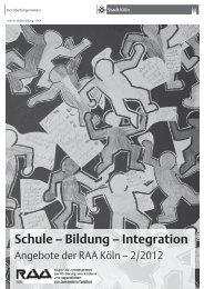 Angebote der RAA 2/2012 - Stadt Köln