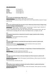 Official Poster Numbers, Titles, Authors and Affiliations - Advances in ...