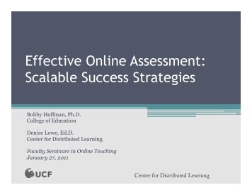 Effective Online Assessment Scalable Success Strategies