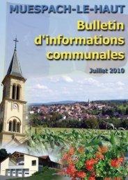 Numéro de juillet 2010 - Muespach-le-Haut
