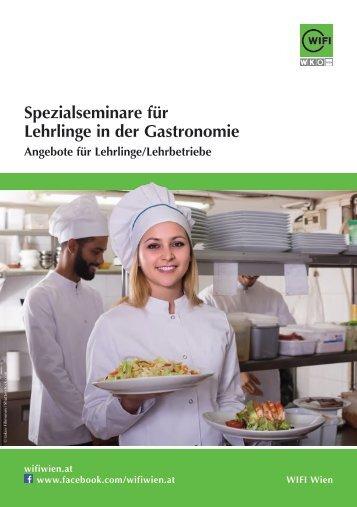 Spezialseminare des WIFI Wien für Lehrlinge in der Gastronomie