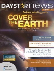 Download August 2012 Newsletter - Daystar Television Network