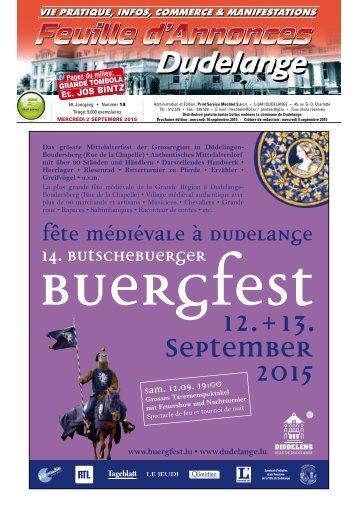 Diddelenger Bliedchen - 2. September 2015