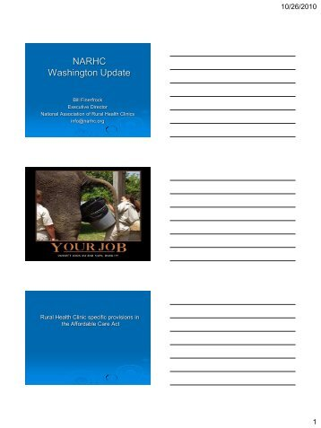 NARHC Washington Update