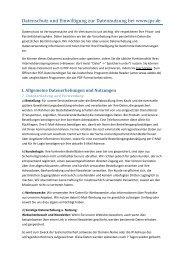 Datenschutz und Einwilligung zur Datennutzung bei www.jpc.de
