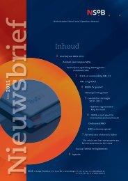 Nieuwsbrief voorjaar 2011 - School voor Openbaar Bestuur