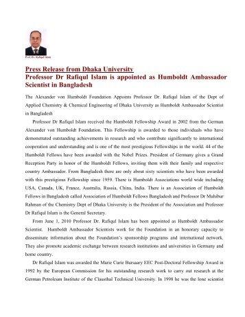 The Alexander von Humboldt Foundation Appoints Academician ...