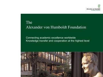 Humboldt Forschungsstipendium - Conacyt