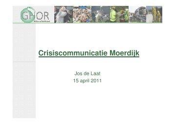 Crisiscommunicatie Moerdijk