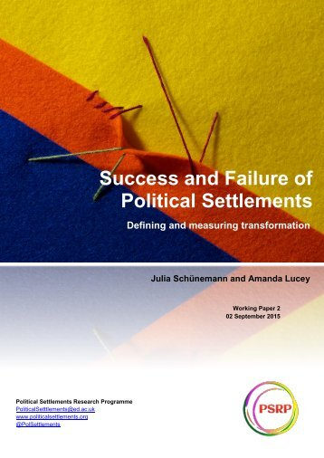 Success and Failure of Political Settlements