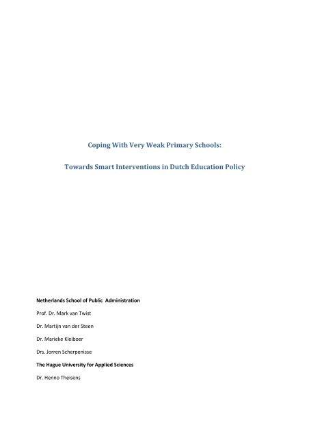 Dutch GCES case study NSOB final 2013 - School voor Openbaar ...