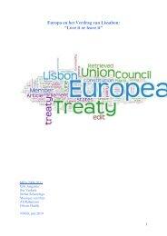 "Europa en het Verdrag van Lissabon ""Love it or leave it"""