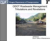 Operating a Highway = Material Management = Roadwaste