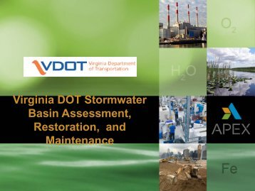 Virginia DOT Stormwater Basin Assessment Restoration and Maintenance