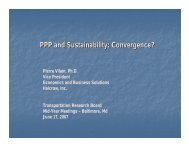 PPP and Sustainability Convergence?