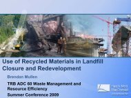 Use of Recycled Materials in Landfill Closure and Redevelopment