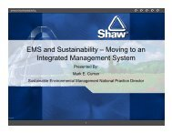 EMS and Sustainability – Moving to an Integrated Management System